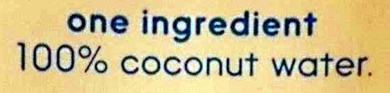 Coconut Water - Ingredients