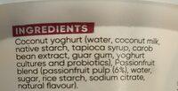 Dairy-free coconut passionfruit yoghurt - Ingredients - en