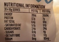 Organic coconut flakes - Nutrition facts