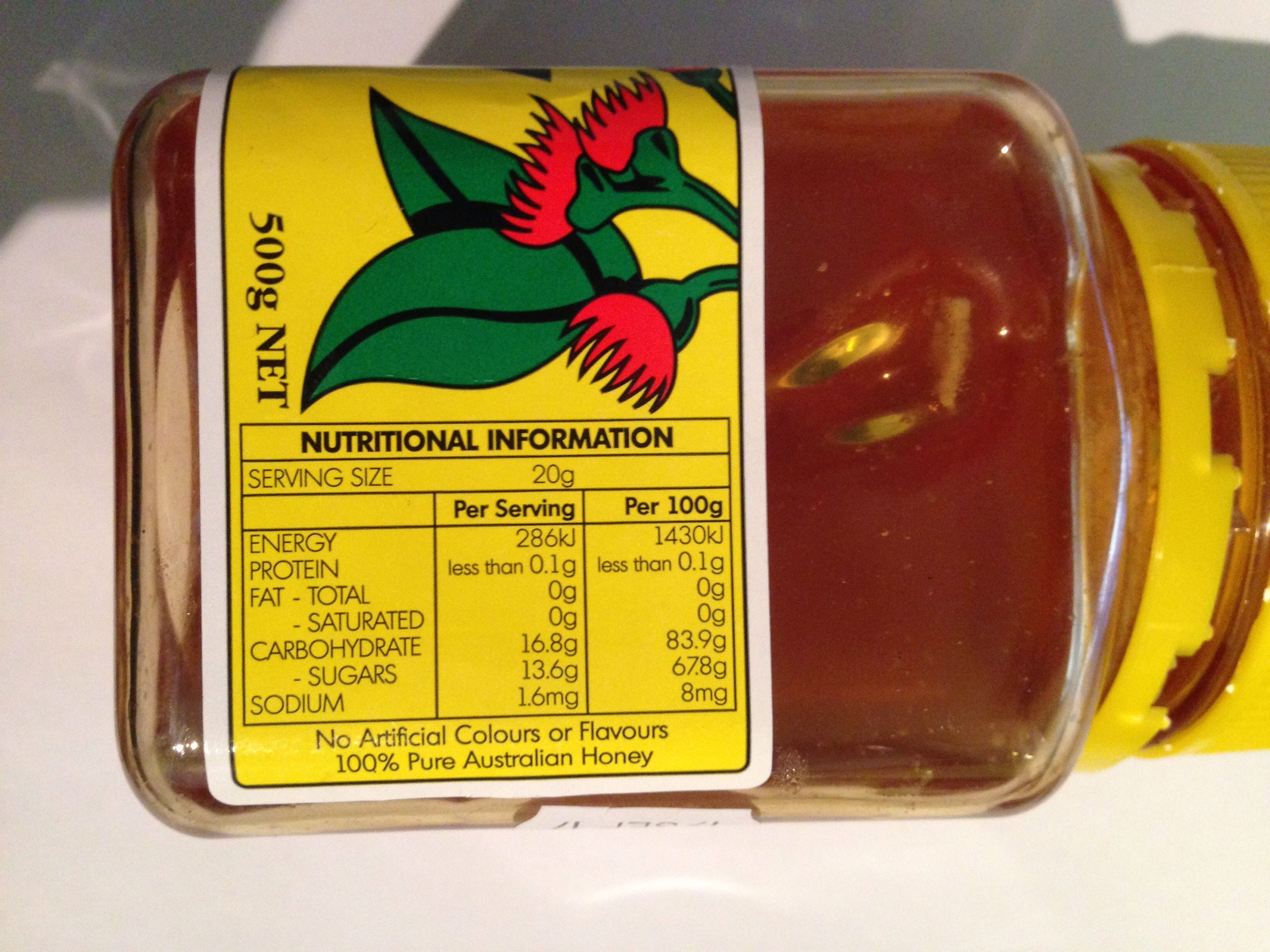 Edmond's Box Honey - Nutrition facts - en