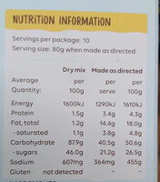 Marble Cake Mix - Nutrition facts - en