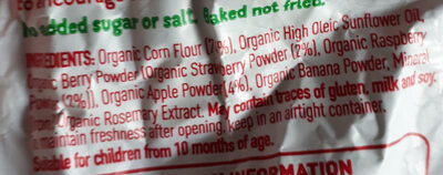 Organic berry and apple softcorn - Ingredients - en