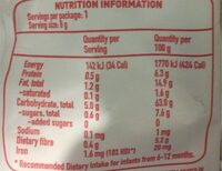 Organic berry and apple softcorn - Nutrition facts - en