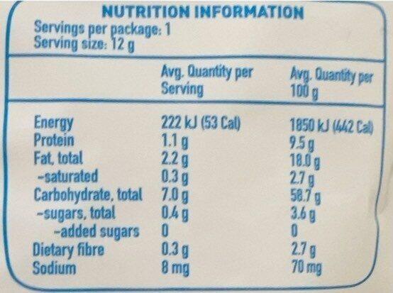 Organic Cheese & Herb fiddlesticks - Nutrition facts - en