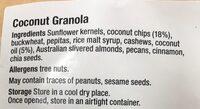 Goodies + Grains Coconut Granola - Ingredients - en