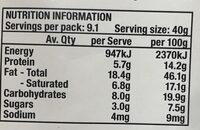 Goodies + Grains Coconut Granola - Nutrition facts - en