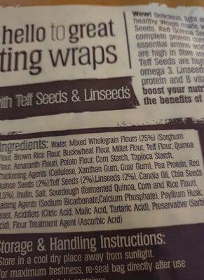 BFree wraps - Ingredients - en