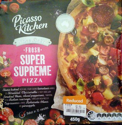 Picasso Kitchen Fresh Super Supreme Pizza - Product - en
