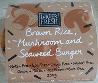 brown rice, mushroom and seaweed burger - Product - en