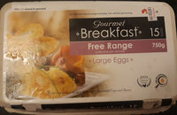 Gourmet Breakfast Free Range Large Eggs - Product