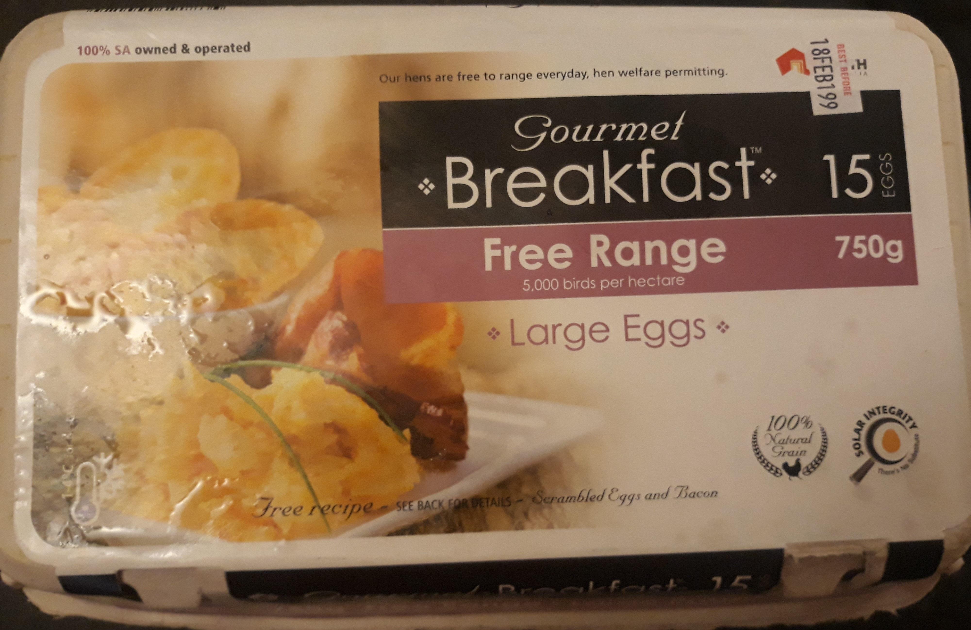 Gourmet Breakfast Free Range Large Eggs - Product - en
