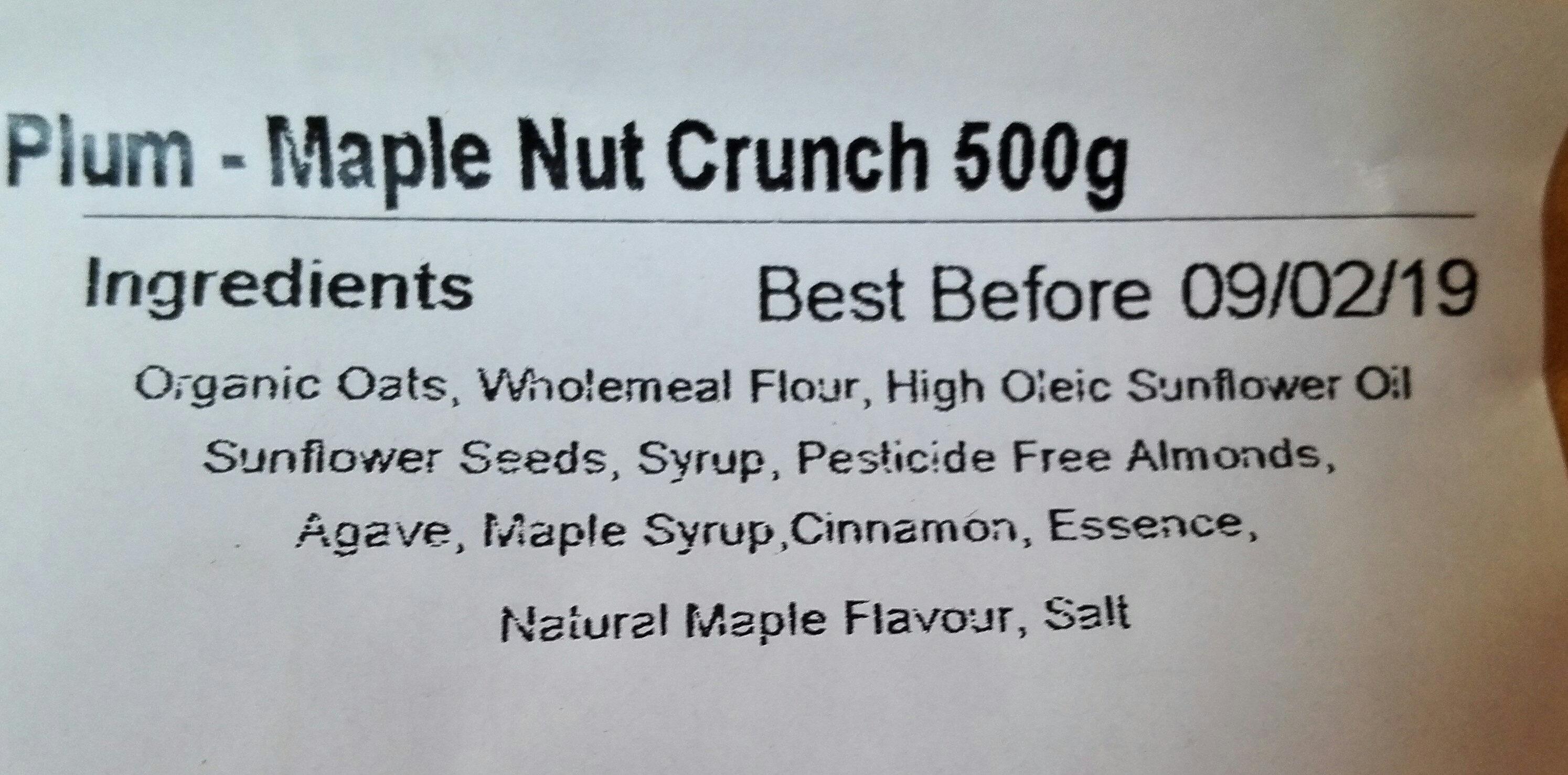 maple nut crunch - Ingredients - en