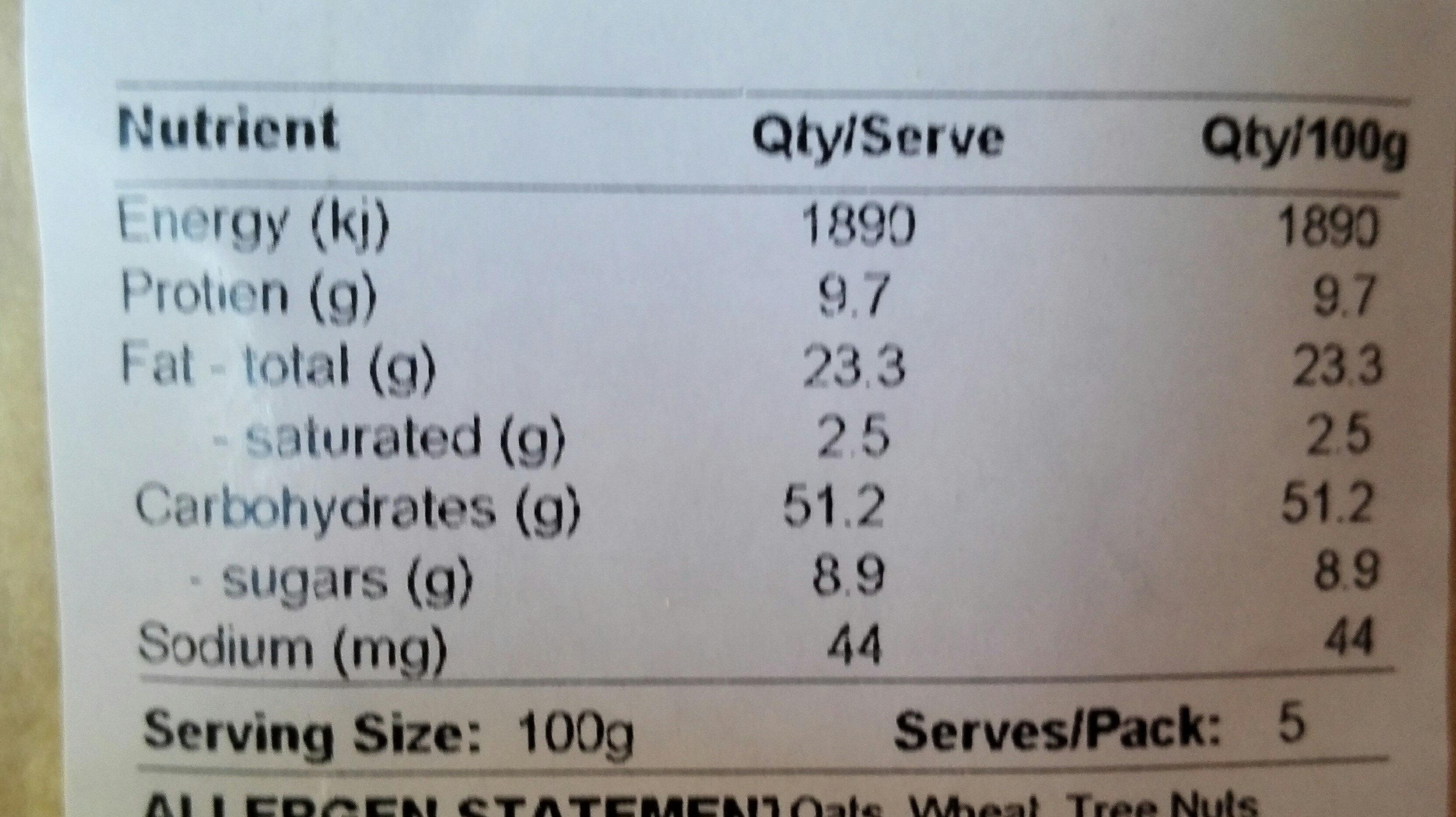 maple nut crunch - Nutrition facts - en