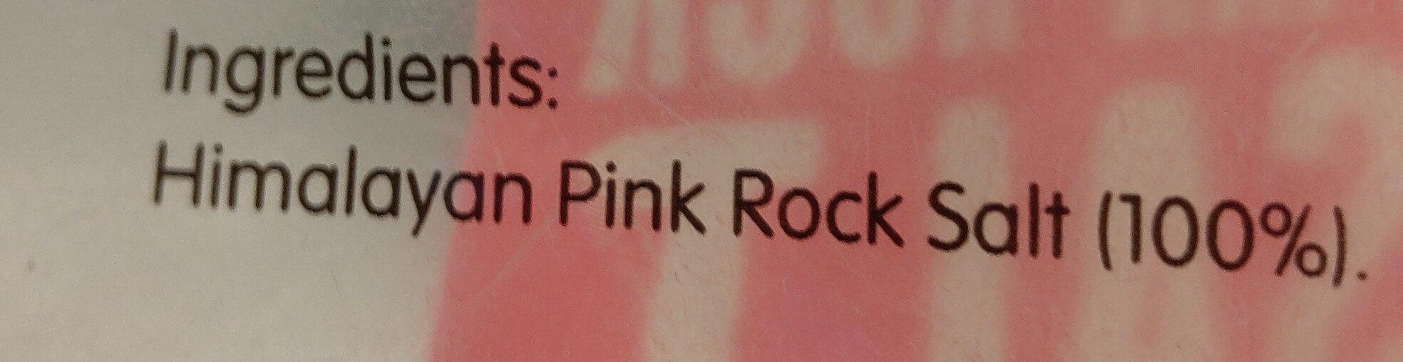Himalayan Pink Rock Salt - Ingredients - en