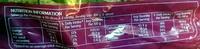 Wholemeal Raisin Toast - Nutrition facts