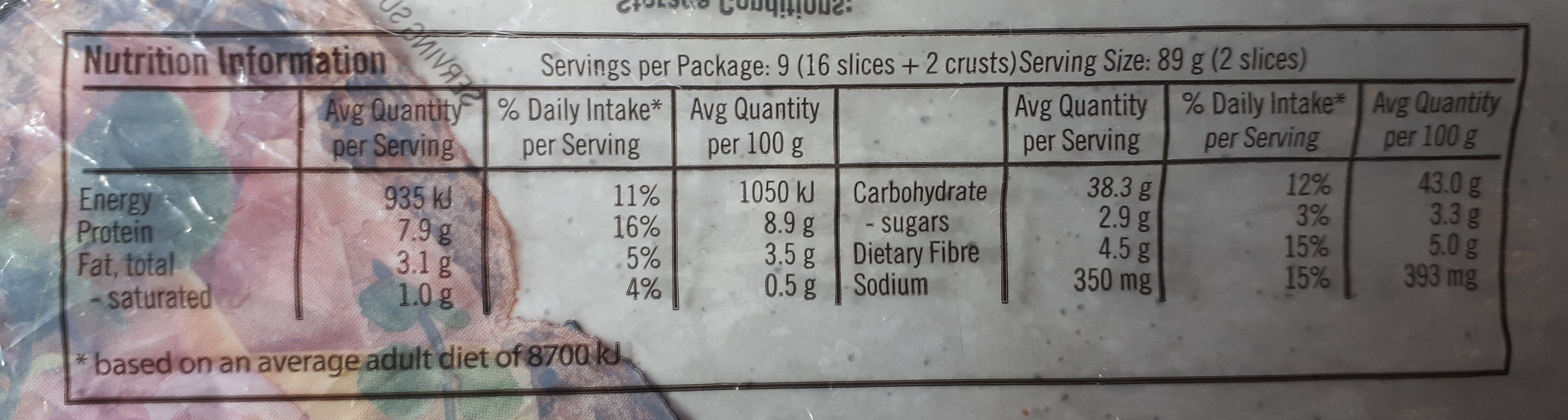 Country Grains - Nutrition facts - en