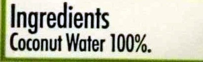 Cocnut Water - Ingredients