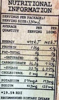 CocoEspresso Full Shot of Coffee H2 Coco Coconut Water - Nutrition facts
