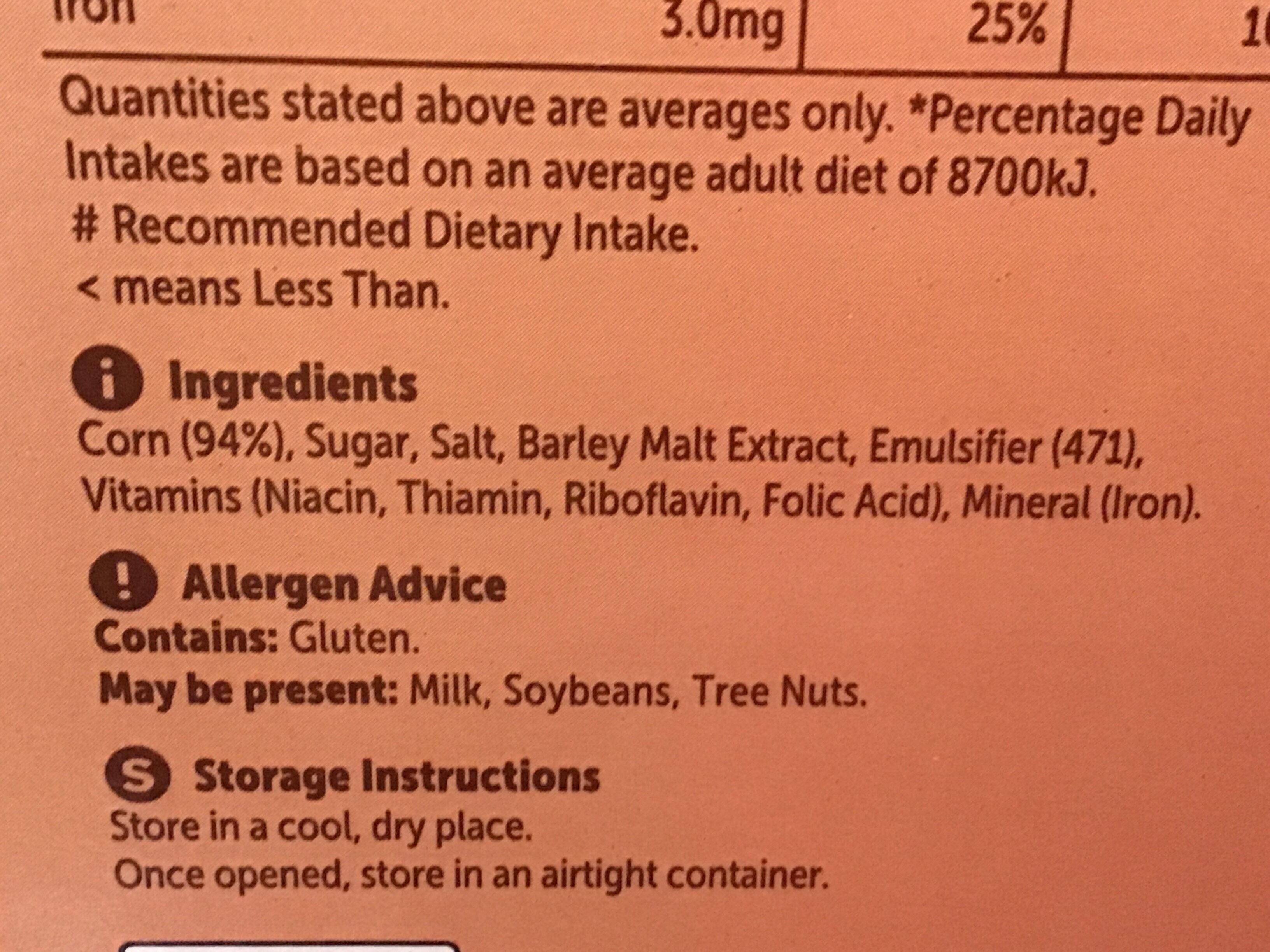 Crunchy Cornflakes - Nutrition facts - en