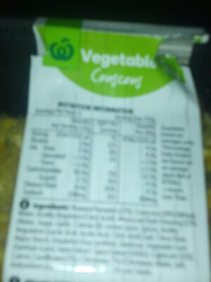 Vegetable Couscous - Nutrition facts