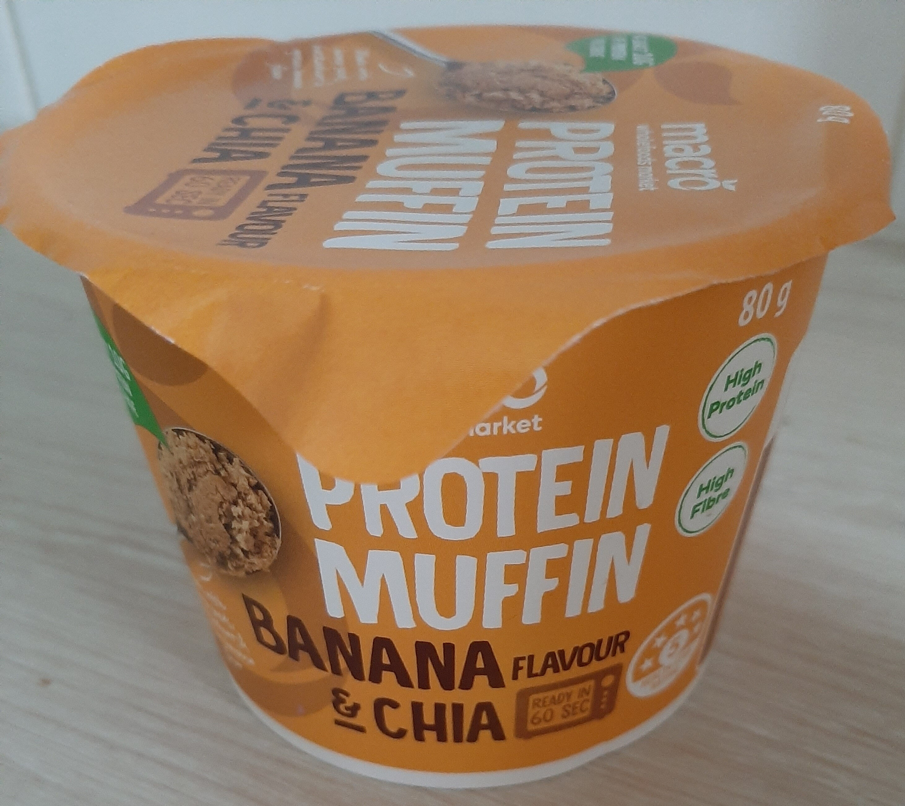 protein muffin banana and chia flavour - Product - en