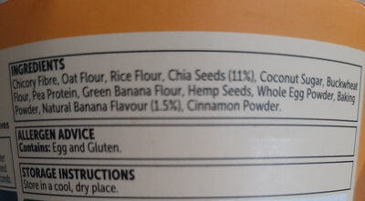 protein muffin banana and chia flavour - Ingredients