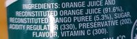 Nippy's Orange & Mango Juice - Ingredients