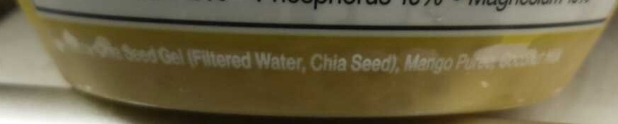 Sun-ripened chia seed, coconut milk and real mango - Ingredients - en