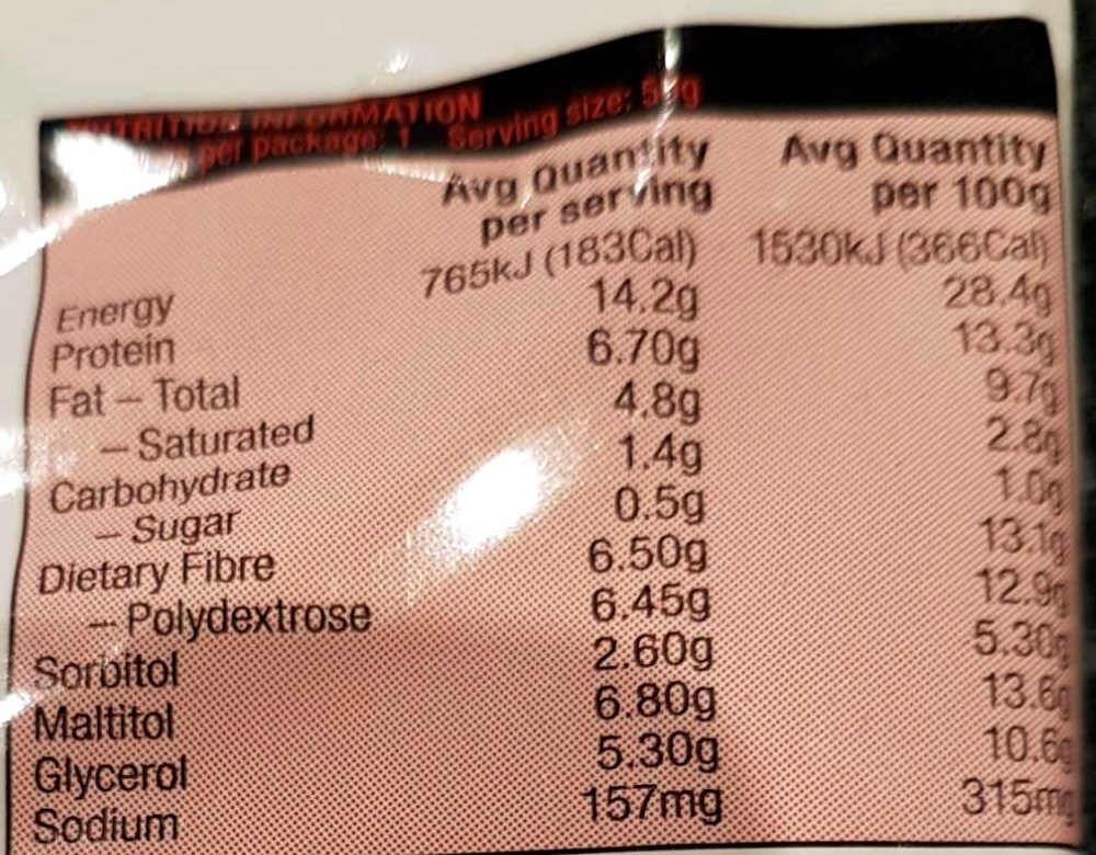 Ultra low carb choc mocha delight - Nutrition facts - en
