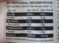 Free Range Chicken Stock - Voedingswaarden - en