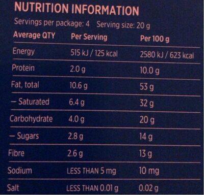 Super dark 85% cocoa - Nutrition facts - en