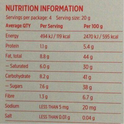 Coconut M*lk - Nutrition facts - en