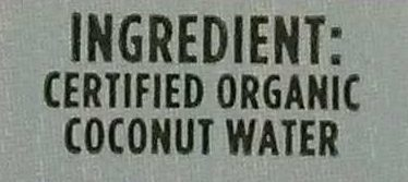 King Coconut Water - Ingredients - en