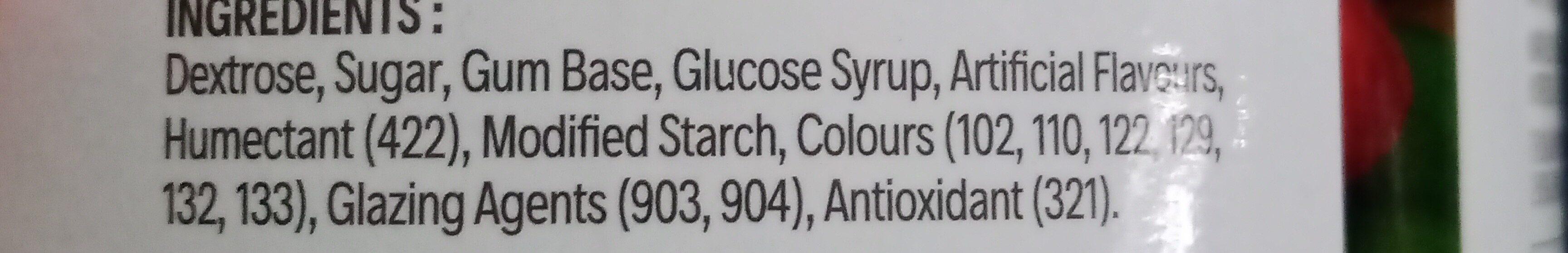 Gumballs - Ingredients - en