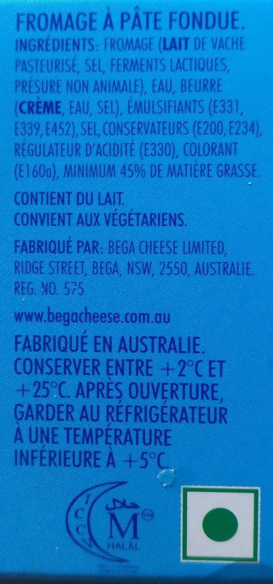 Cheddar Processed Cheese - Ingrediënten