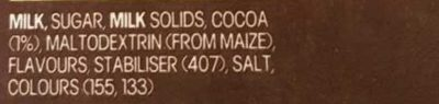 The max cool choc mint - Ingredients