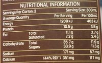 The max cool choc mint - Nutrition facts - en