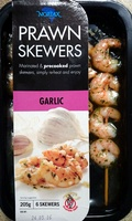 Prawn Skewers - Garlic - Product