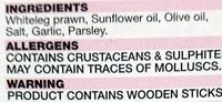 Prawn Skewers - Garlic - Ingredients - en