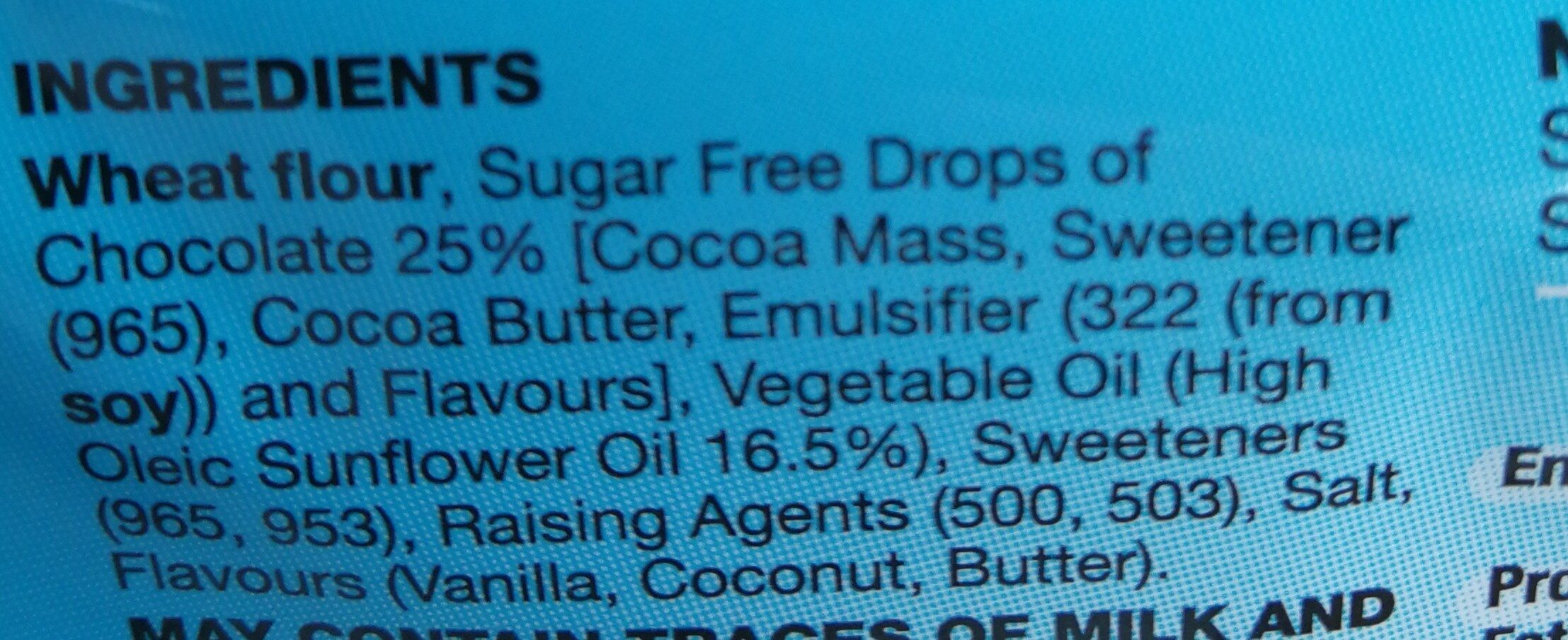 No sugar biscuits - Ingredients - en