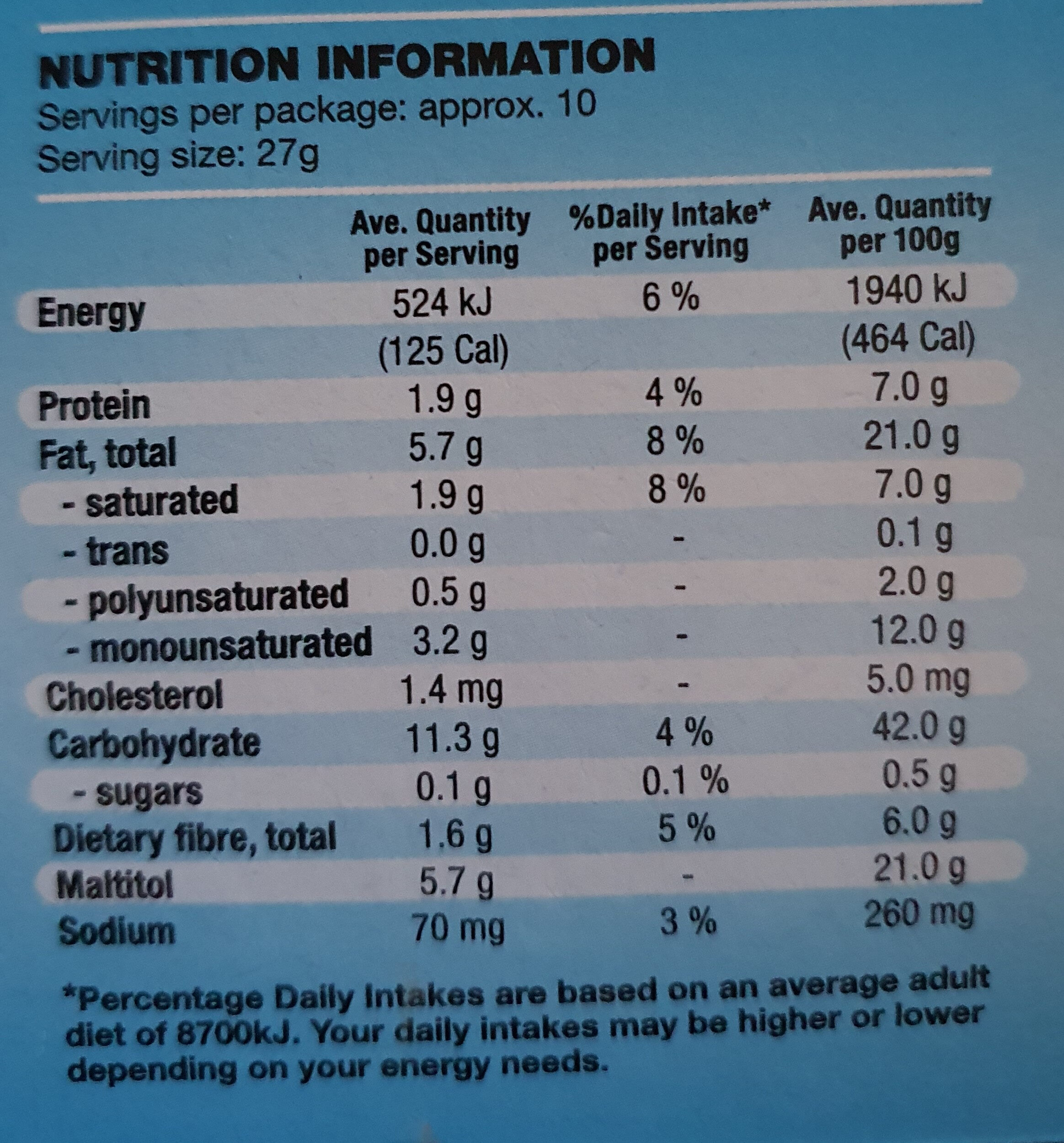Chocolate Digestive Biscuits - Nutrition facts - en