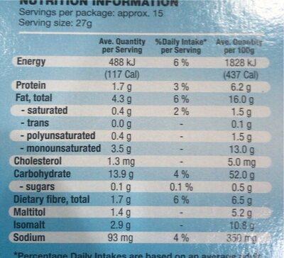Digestive Biscuit - Nutrition facts - en