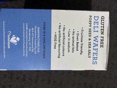 Gluten Free Deli Wafers - Recycling instructions and/or packaging information - en