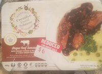 Angus Beef Sausages with creamy potato & peas & a rich onion gravy - Product