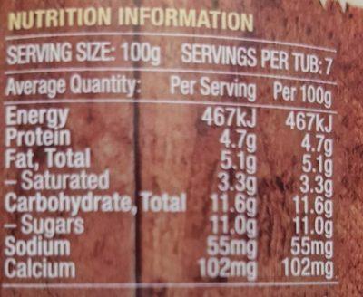 Vanilla Bean Yoghurt - Nutrition facts - en