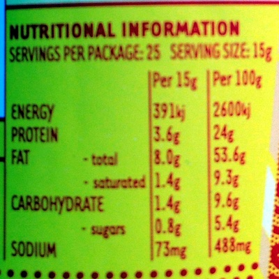 Ridiculously Delicious Peanut Butter Super Smooth - Nutrition facts
