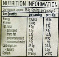 Stone Baked Fresh Gourmet Pizza - Pumpkin & Pizza - Nutrition facts