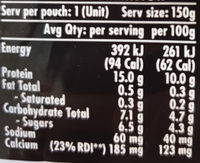 YoPro strawberry yoghurt - Nutrition facts - en