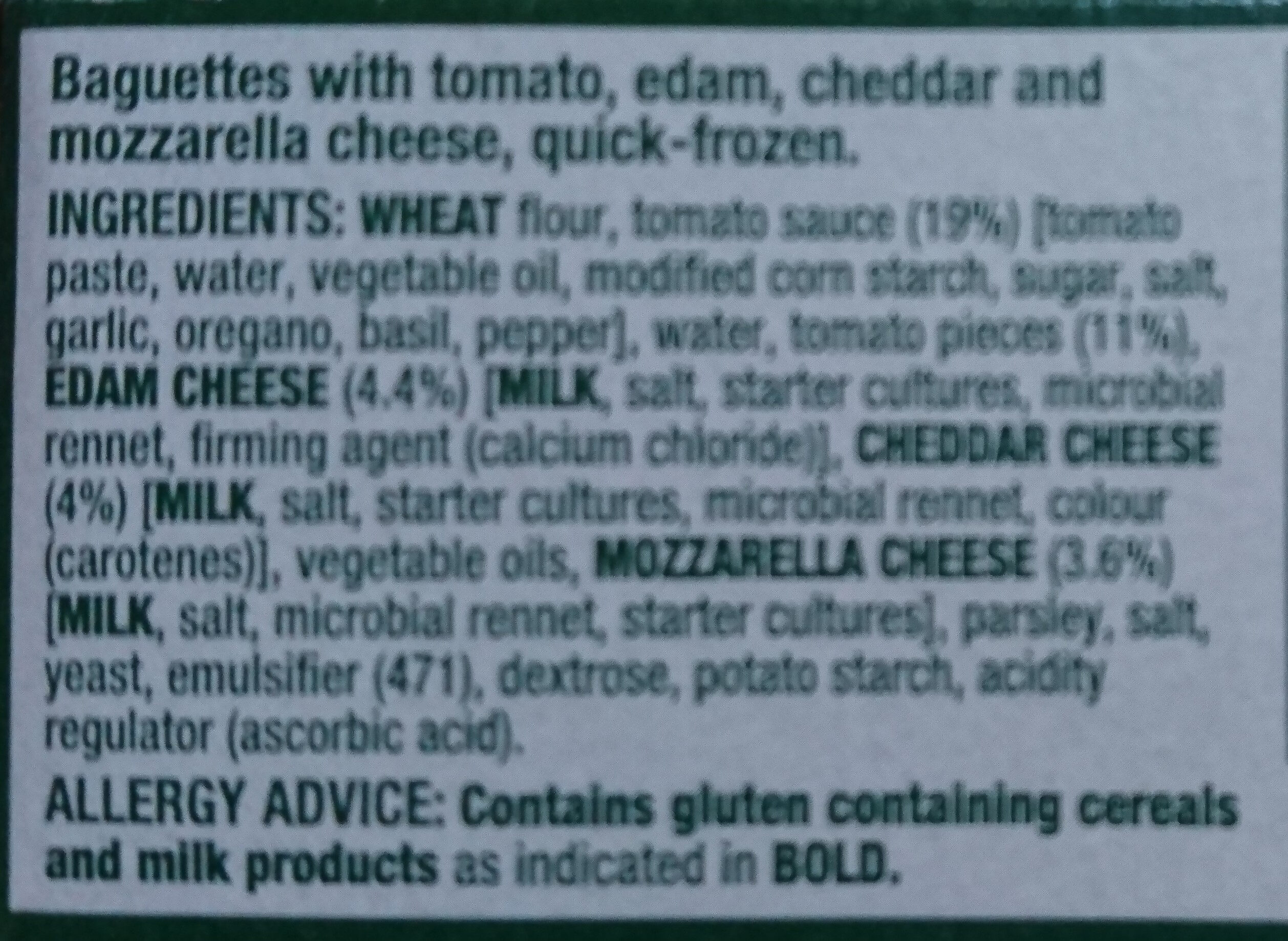 Italian Inspired Panini - Tomato & Cheese - Ingredients - en