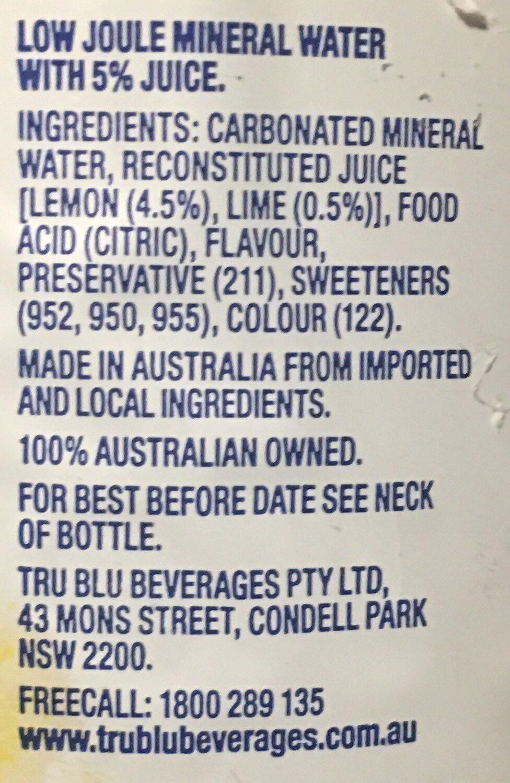 Lemon Lime Bitters Diet - Ingredients - en